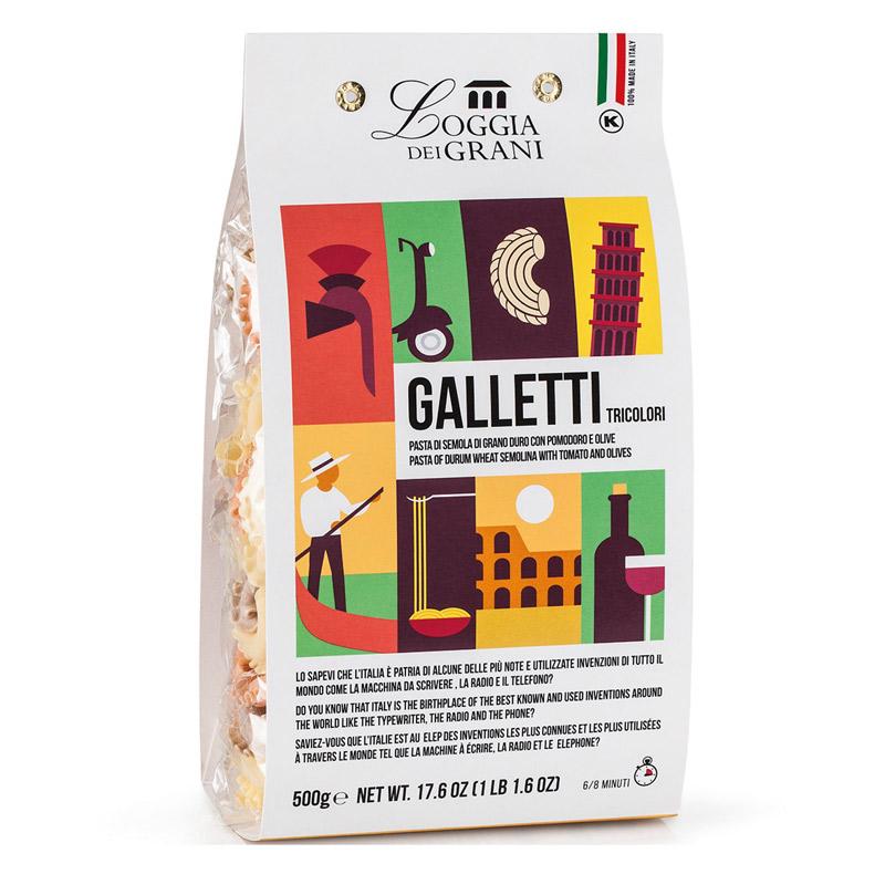 Paste din grau dur tricolore Galletti, 500g, Dalla Costa