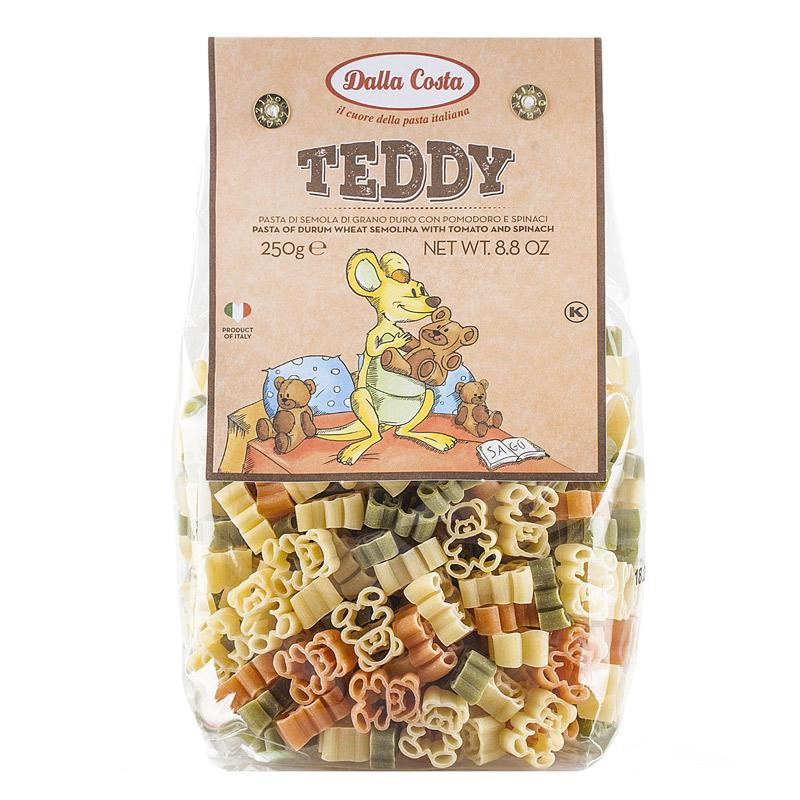 Paste din grau dur tricolore Teddy, 250 g, Dalla Costa