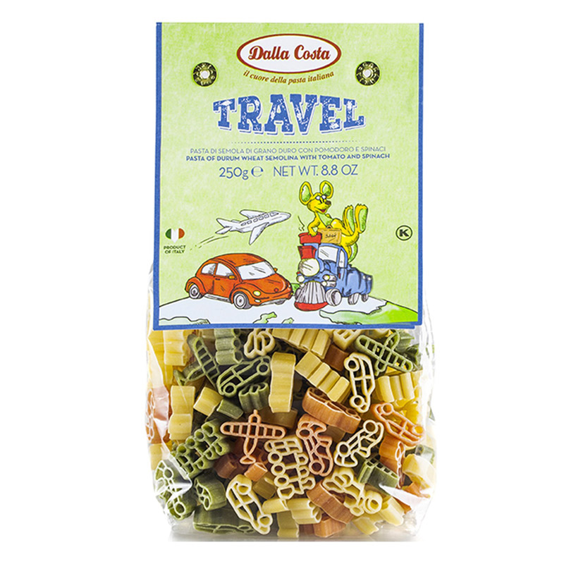 Paste din grau dur tricolore Travel, 250 g, Dalla Costa