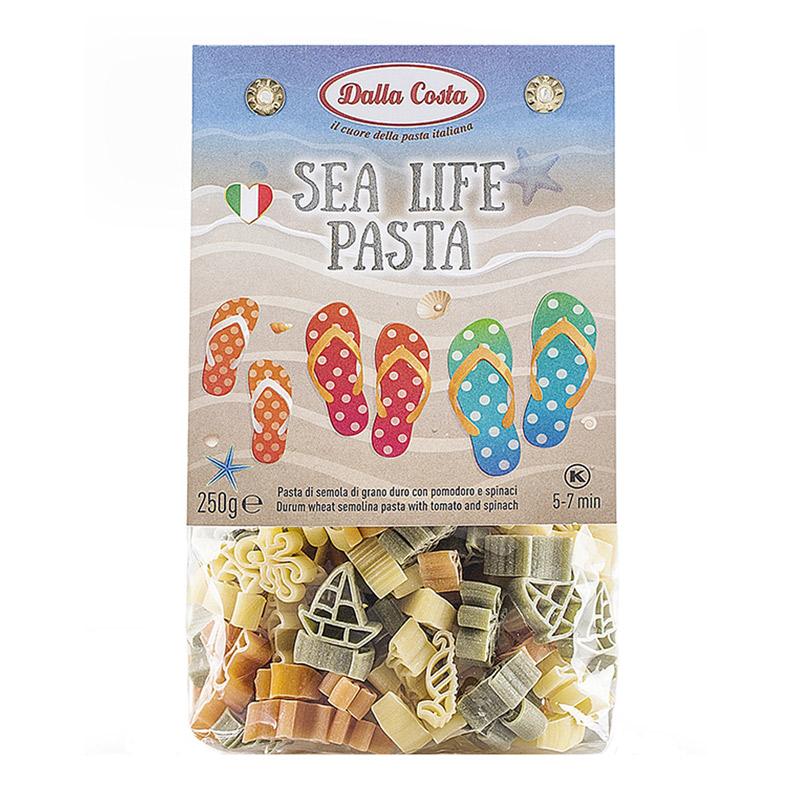 Paste din grau dur tricolore Sea Life, 250 g, Dalla Costa
