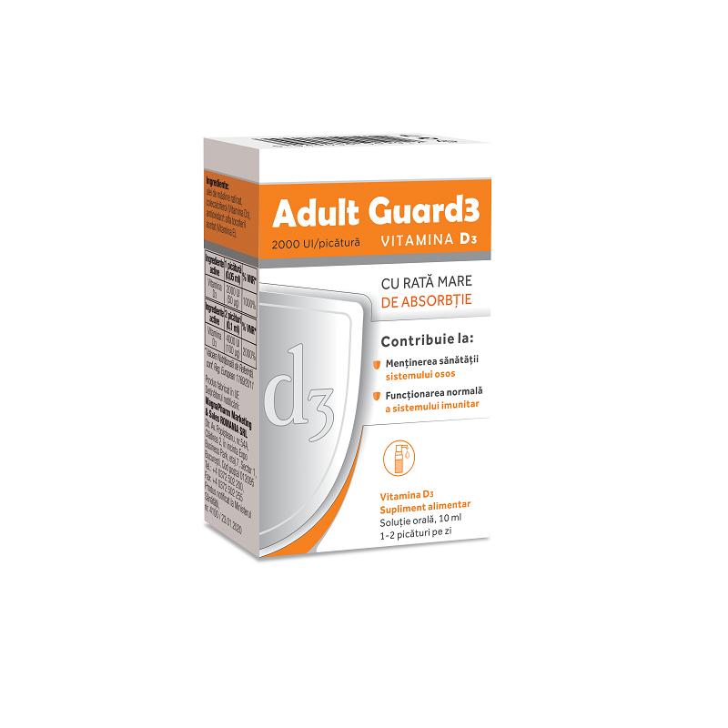 Adult Guard3 2000 UI Vitamina D3, 10 ml, Evital