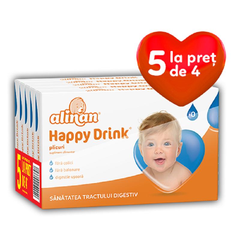 Ofertă Pachet, Alinan Happy Drink, 12 plicuri, 5 La preț de 4, Fiterman Pharma