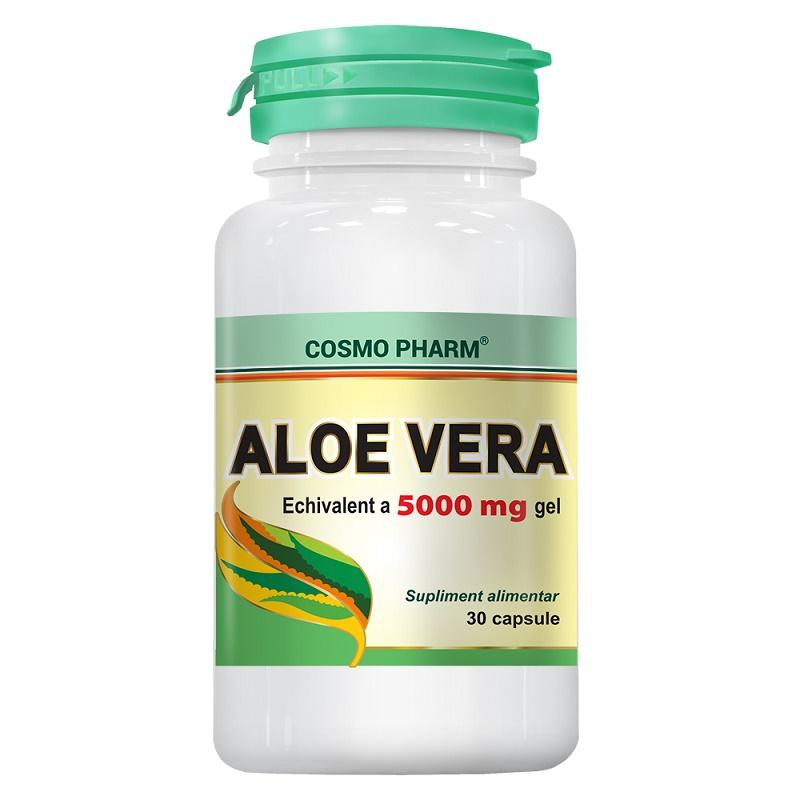 Aloe Vera 5000 mg, 30 capsule, Cosmopharm