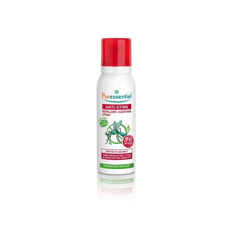 Spray repeland si calmant impotriva tantarilor Anti-Sting, 75 ml, Puressentiel