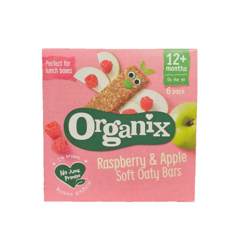 Batoane Bio din ovăz, cu mere și zmeură Goodies, +12 luni, 6x30g, Organix