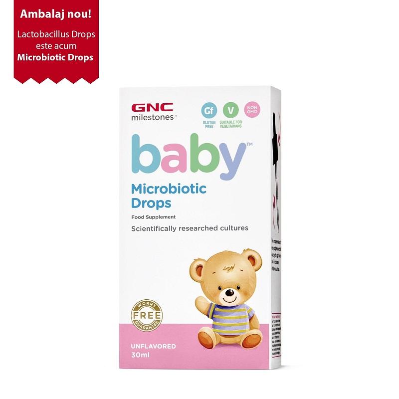 Baby Microbiotic, Picături-Fără Aromă, 30ml, GNC Baby