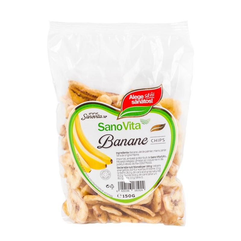 Banane chips, 150 g, Sanovita