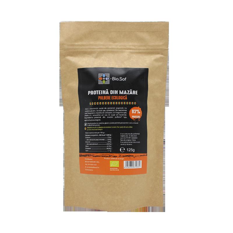 Proteină din mazăre, pulbere Eco, 125 gr, Biosof