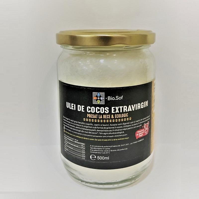 Ulei de Cocos Extravirgin Ecologic, 500 ml, Biosof