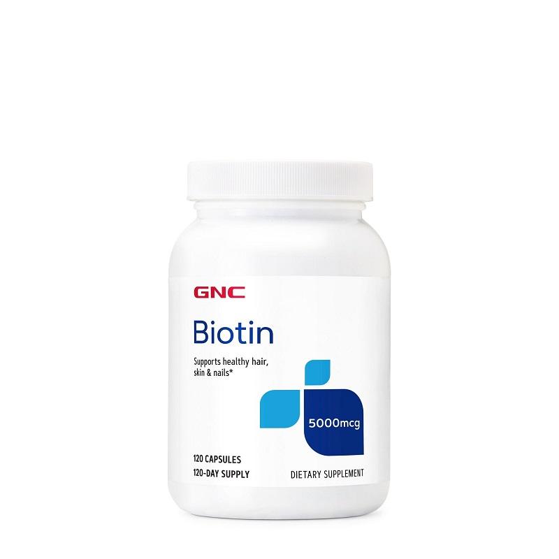 Biotin 5000 MCG, 289415, 120 capsule, GNC