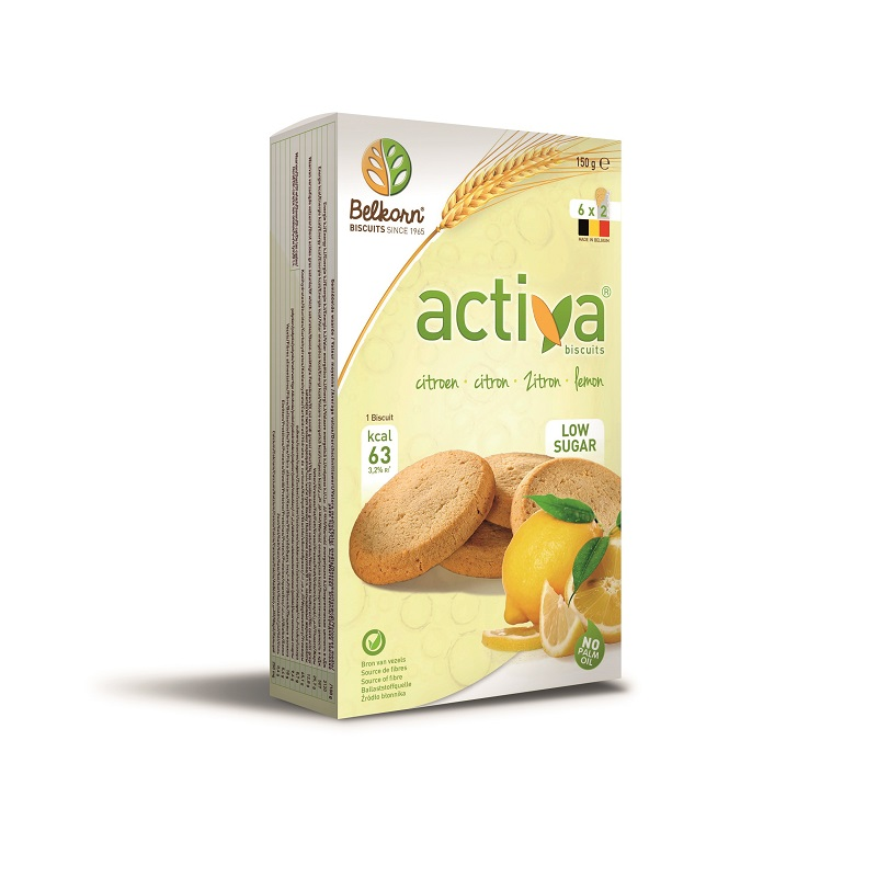 Biscuiti fara zahar cu lamaie Activa, 150 gr, Belkorn