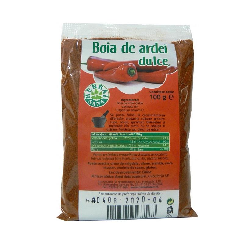 Boia de ardei dulce, 100 gr, Herbal Sana