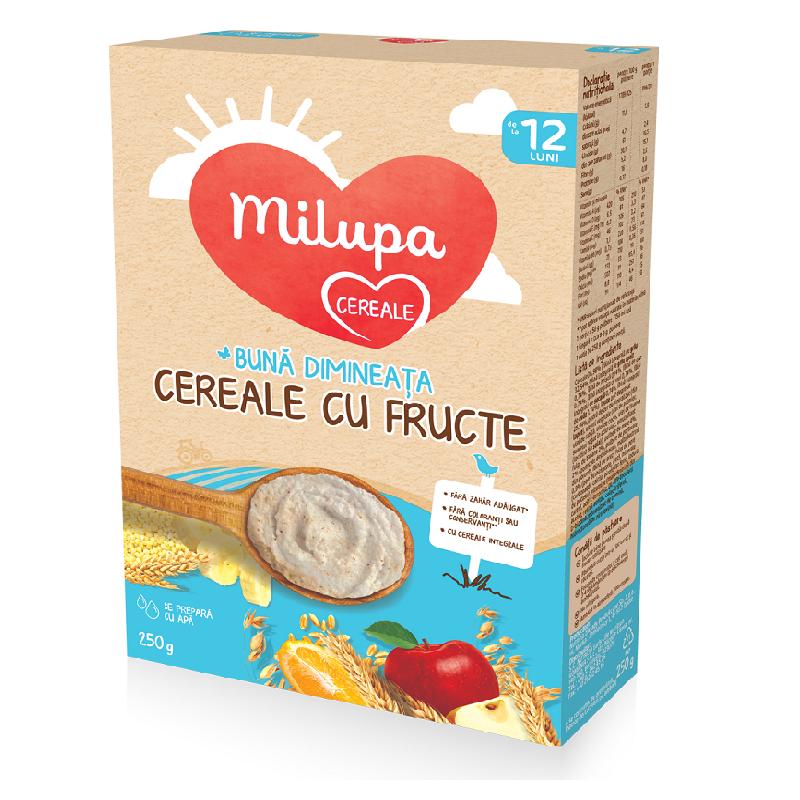 Bună dimineața Cereale cu Fructe, 12+, 250g, Milupa