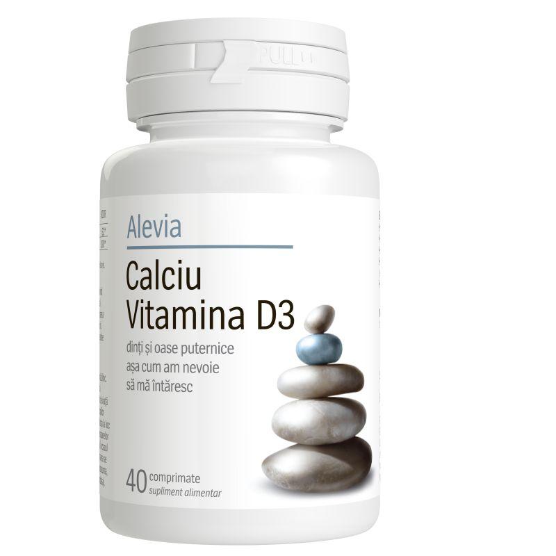 Calciu cu Vitamina D3, 40 comprimate, Alevia