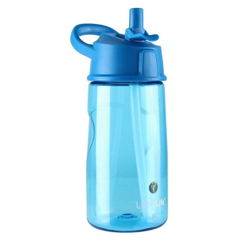 Cană Tritan cu pai, Blue, 550 ml, L15170, Littlelife