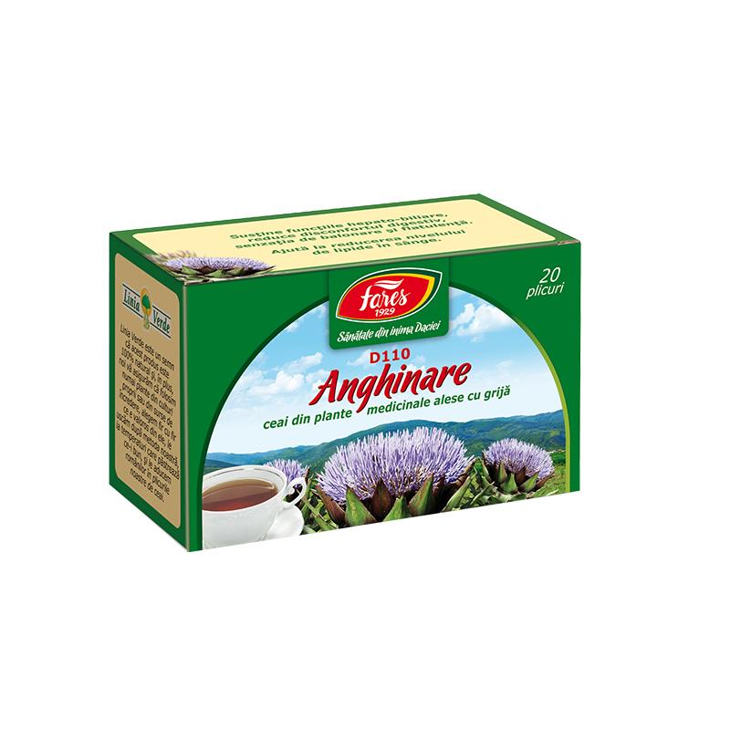 Ceai fructe de anghinare, 20 plicuri, Fares