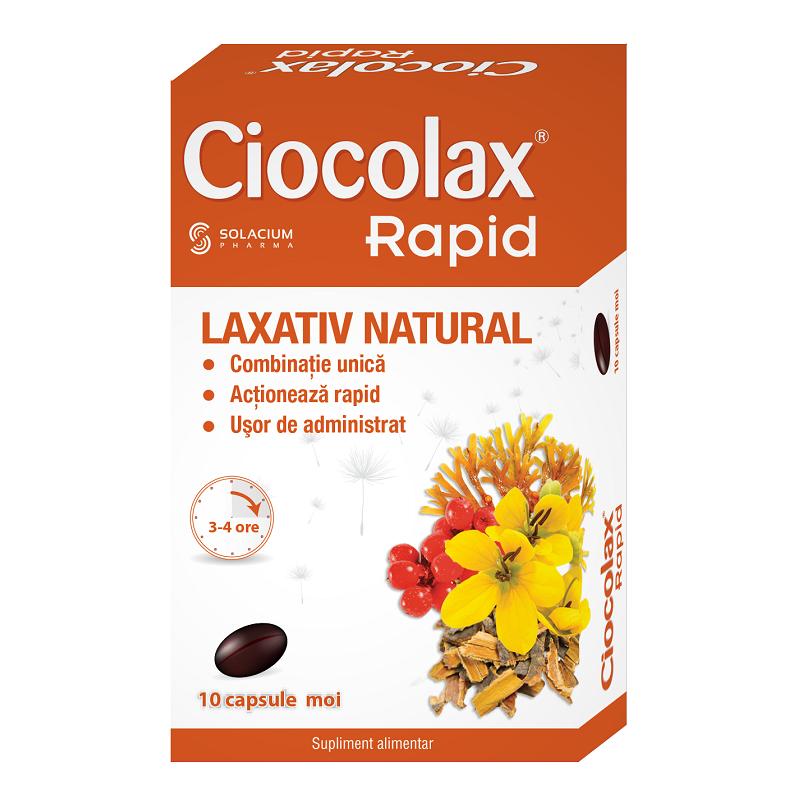Ciocolax Rapid, 10 cps, Solacium Pharma