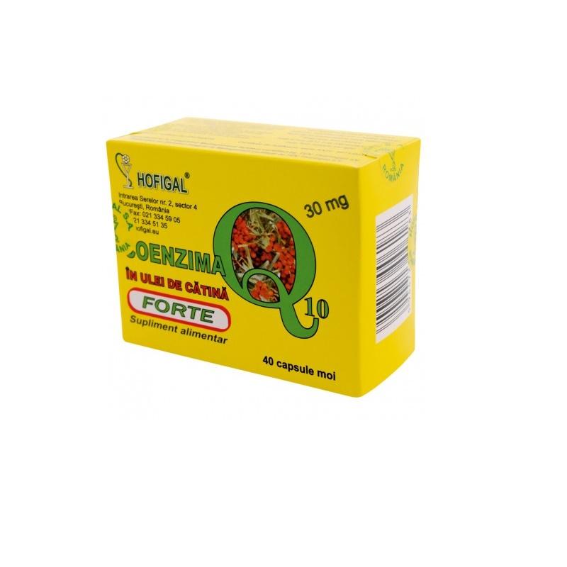 Coenzima Q10 30mg Forte in ulei de catina, 40 capsule, Hofigal