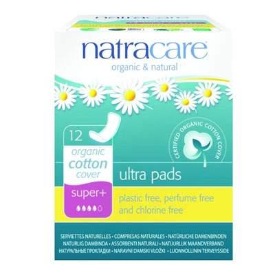 Absorbante Organice Ultra Pads Super Plus, 12 bucăți, Natracare
