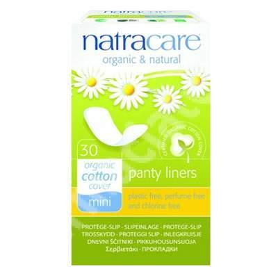 Absorbante zilnice Organice Panty Liners Mini, 30 bucăți, Natracare