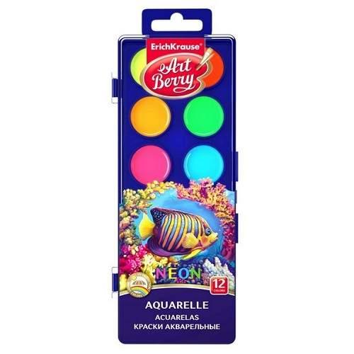 Acuarele cu protectie Neon, 12 culori, 41727, ErichKrause