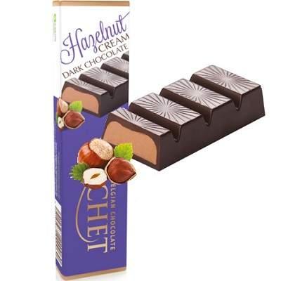 Baton de ciocolată cu lapte și cremă de alune, 75g, Cachet
