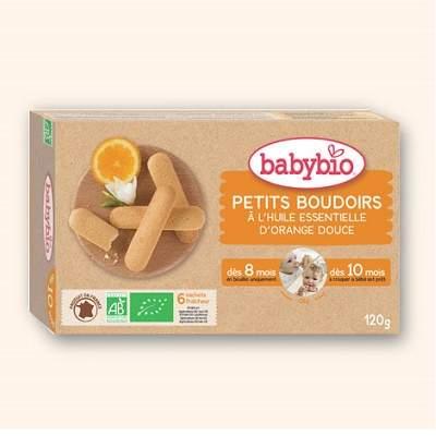 Biscuiti Bio pentru dentitie cu ulei de portocal dulce, +8luni, 120g, BabyBio