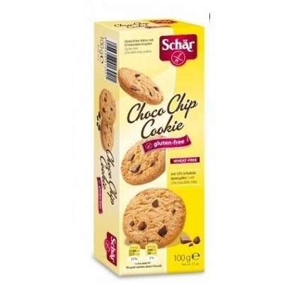Biscuiti ChocoChip Cookies cu fulgi de ciocolată fără gluten, 100gr, Dr. Schar