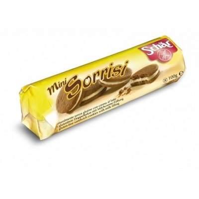Biscuiți cu cacao și cremă de lapte, Mini Sorrisi, 100g, Dr. Schar