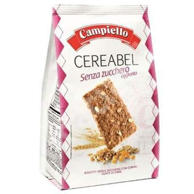 Biscuiti cu cereale fara zahar, 220 g, Campiello