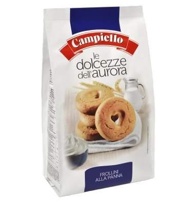 Biscuiti cu cereale, lapte si vanilie Frollini, 250 g, Campiello