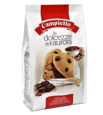 Biscuiti cu cereale si fulgi de ciocolata Dolcezze, 350 g, Campiello