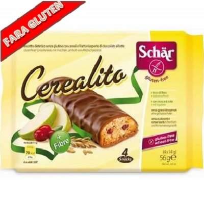 Biscuiti fara gluten din cereale si fructe Cerealito, 56gr, Dr. Schar