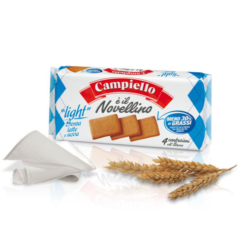 Biscuiti fara lapte si ou Light, 350 g, Campiello