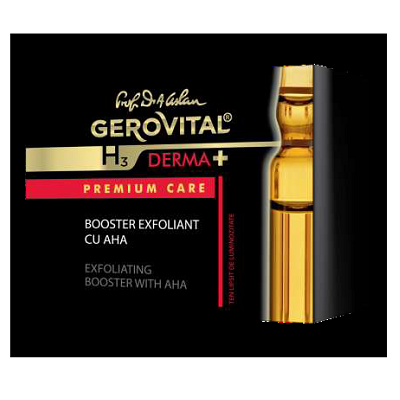 Booster exfoliant cu AHA Gerovital H3 Derma Premium Care, 8ml, Farmec