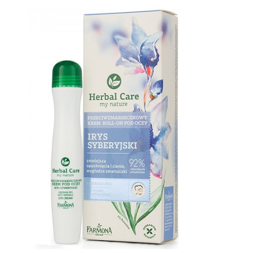 Cremă antirid pentru ochi roll-on Herbal Care, 15 ml, Farmona