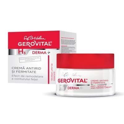 Cremă antirid și fermitate Gerovital H3 Derma+, 50 ml, Farmec