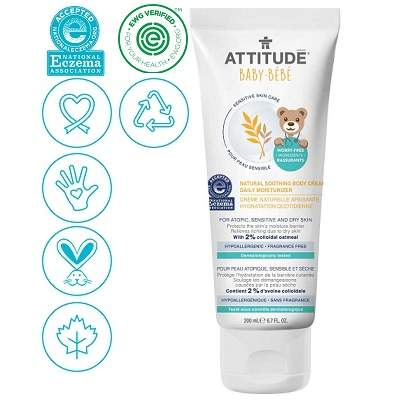 Cremă calmantă piele atopică Senzitive Skin, +0luni, Attitude