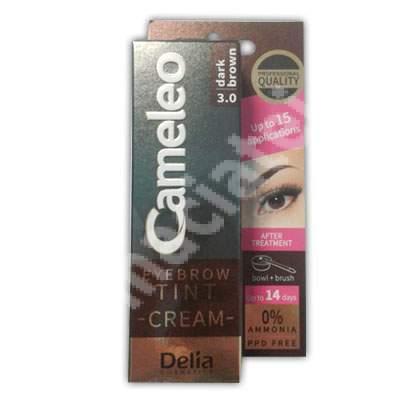Cremă colorantă pentru sprâncene Cameleo, Dark Brown 3.0, 15 ml, Delia Cosmetics