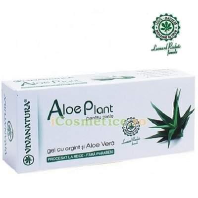 Cremă Gel cu Argint Coloidal și Aloe Vera 100% Natural, 20ml, Vivanatura