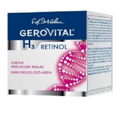 Cremă pentru prevenirea ridurilor, Gerovital H3 Retinol, 50 ml, Farmec