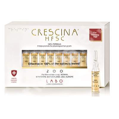 Crescina Re-Growth HFSC 200 Woman, 10 fiole, Labo