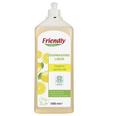 Deteregent de vase, aromă lămâie, 1000ml, Friendly Organic