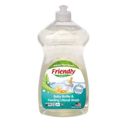 Detergent organic, spălare manuală, pentru biberoane și vase, 739 ml, Friendly Organic