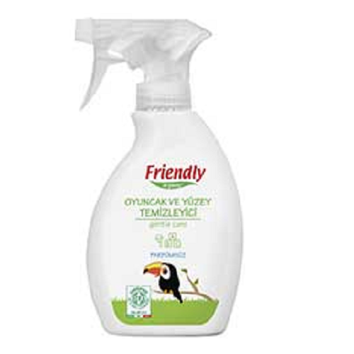 Detergent Spray pentru jucării și suprafețe, 250 ml, Friendly Organic