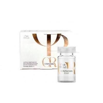Elixir pentru maximizarea luminozității părului Oil Reflections 6 ml, 10 fiole, Wella Professionals