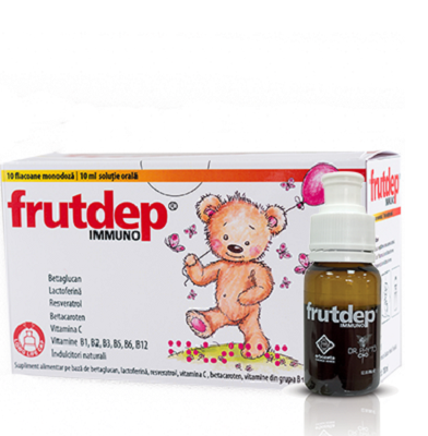 Frutdep Immuno, 10 flacoane, 10 ml, Dr Phyto