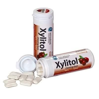 Gumă de mestecat Merișoare Xylitol, 30g, Miradent