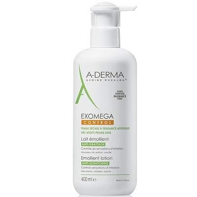 Lapte emolient piele atopica Exomega Control, +0luni, 400 ml, A-Derma