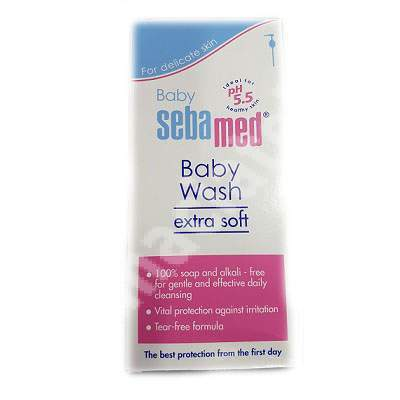 Lichid dermatologic de spălare Extra delicat Baby, 400 ml, sebamed